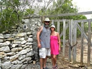 Hubby & I at Wade Plantation in North Caicos (Turks & Caicos Islands)