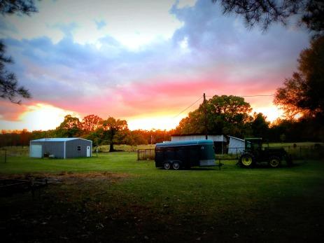 working man's sunset (© 2011 Tisha Clinkenbeard)
