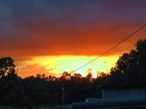 flames in the sky (© 2011 Tisha Clinkenbeard)