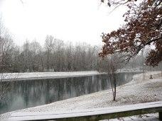 snowy pond (© 2010 Tisha Clinkenbeard)