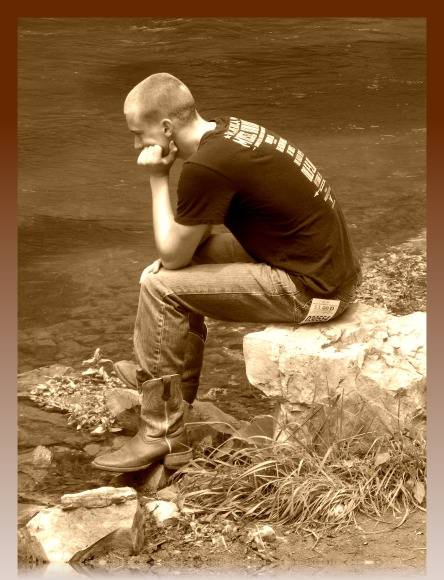 fishing depression (©2011 Tisha Clinkenbeard)
