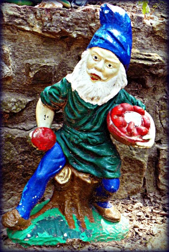 green and blue gnome
