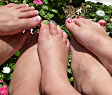Toes - our baby girl and a friend - we all got pedis!