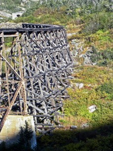 abandoned white pass and yukon bridge