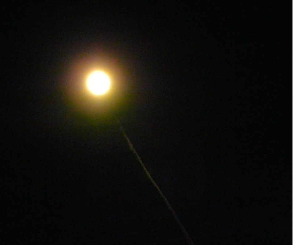 moon and plane path 102912