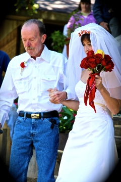 Dad walking me to my Hubby at my wedding