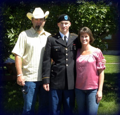 Hubby, son & I at Army basic training graduation