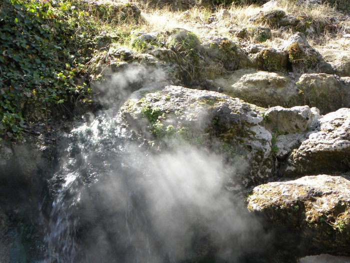 a hot spring in hot springs