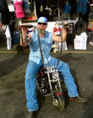 Hubby at Bikes Blues & BBQ 2012