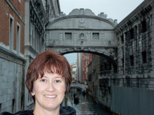 Tisha at Bridge of Sighs Venice