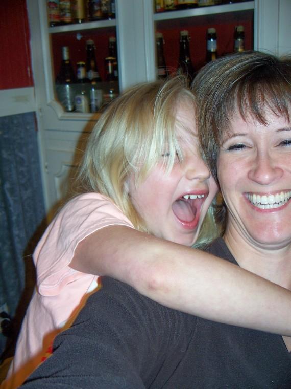 Tisha and daughter laughing