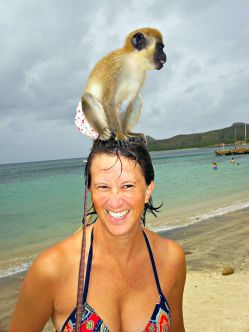 tisha and monkey