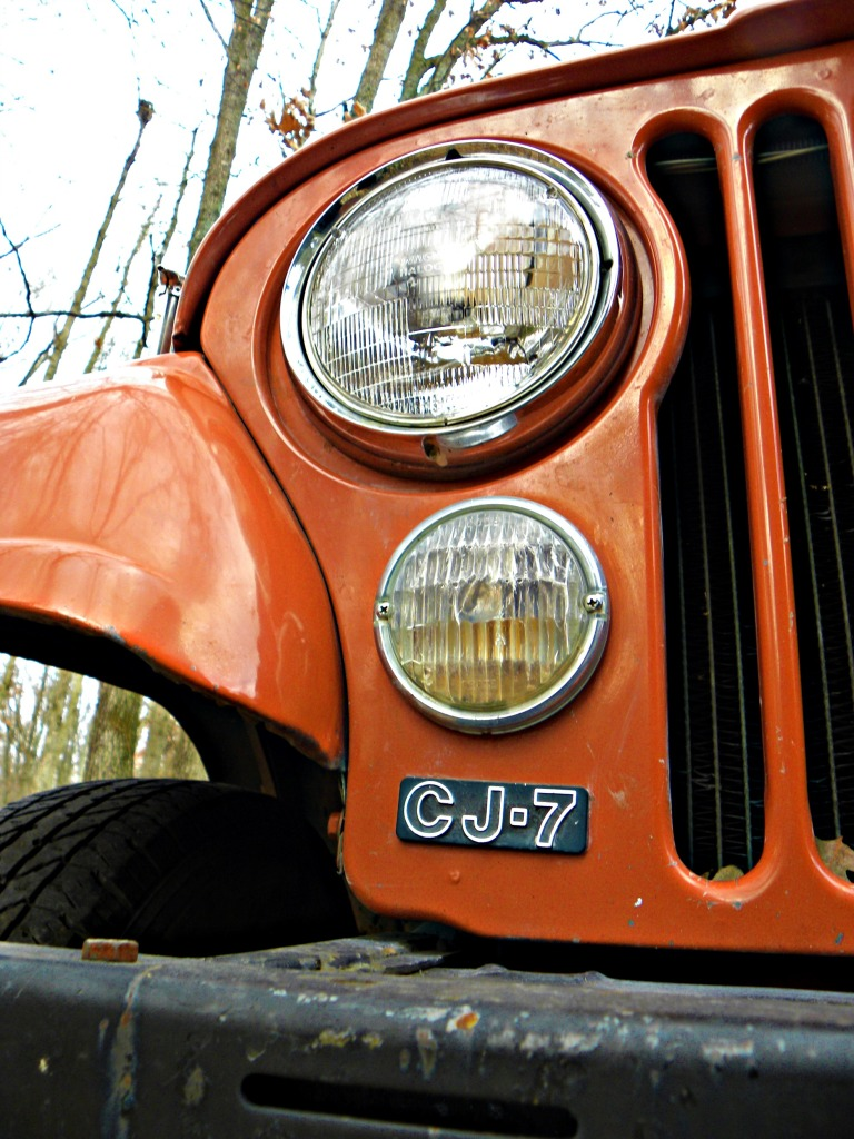 Jeep CJ7 headlight curved hood