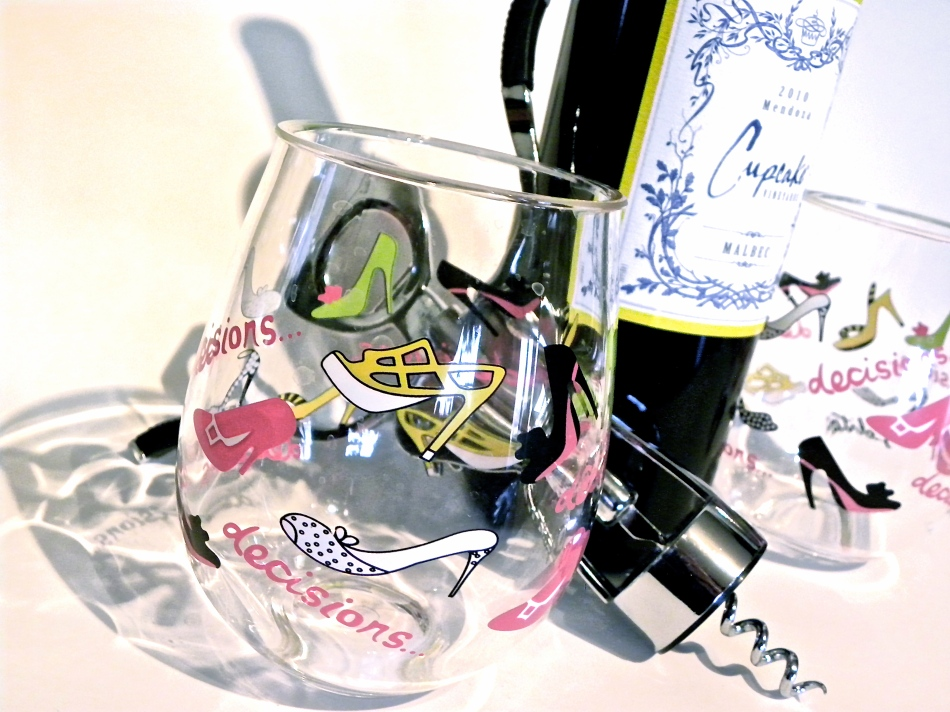 And tools for enjoying that lovely glass of wine - customized for the shoe lover that I am!