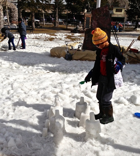 building snowcastles