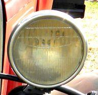 old car headlight