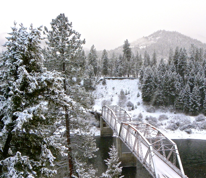 bridge over Clark Fork