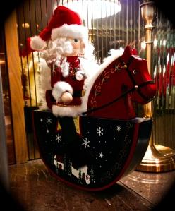 Santa on horseback