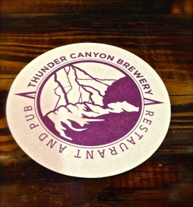 Thunder Canyon Brewery coaster
