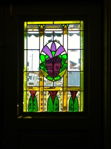 stained glass entrance