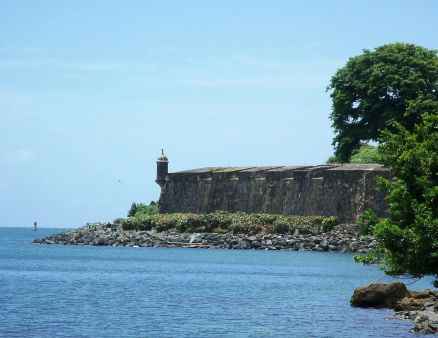 El Morro garita seen from Old San Juan