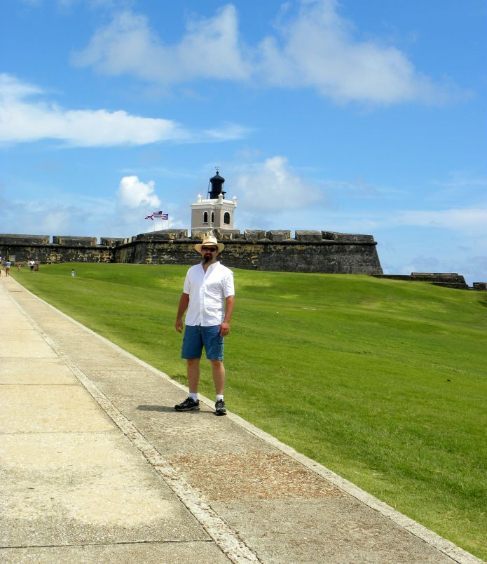 Hubby on the green at El Morro