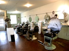 Fort Chaffee barber room