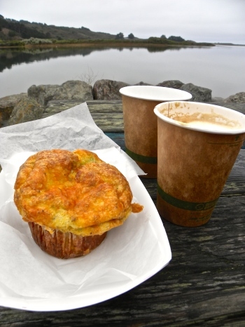 muffin and latte