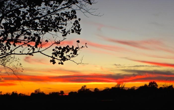 sunset in Muskogee