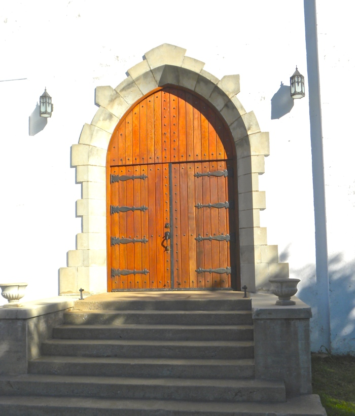 Fort Reno chapel door
