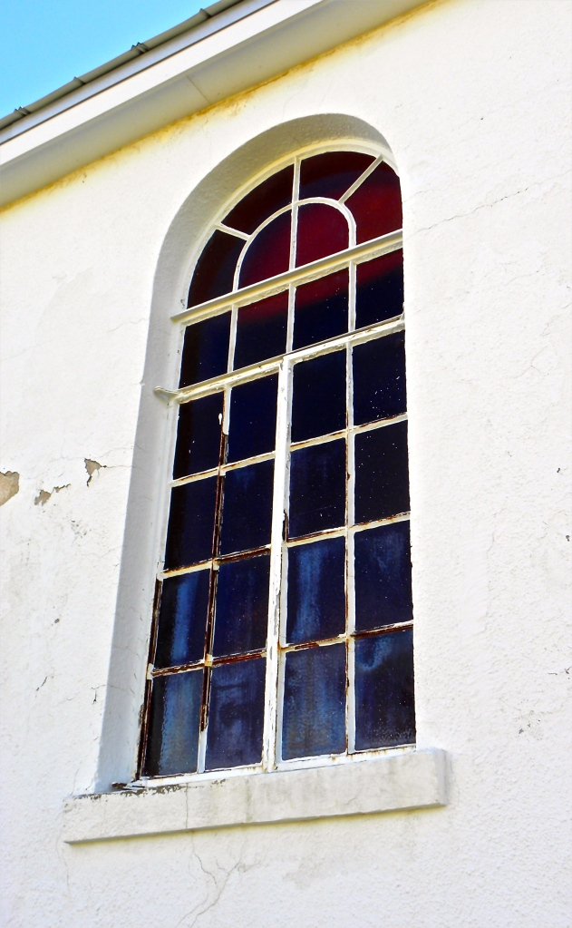Fort Reno chapel window